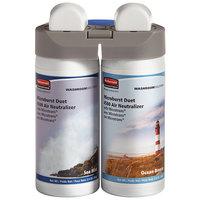 Rubbermaid 3485951 Microburst Duet Ocean Breeze / Sea Mist Metered Aerosol Air Freshener System Refill