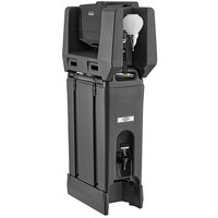 Cambro 4.75 Gallon Black Portable Handwash Station with Soap and Multi Fold Paper Towel Dispenser and Riser