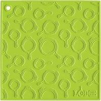 Lodge AS7SKT51 7 inch x 7 inch Green Skillet Pattern Silicone Trivet / Pot Holder