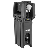 Cambro 4.75 Gallon Black Portable Handwash Station with Soap and Multi Fold Paper Towel Dispenser