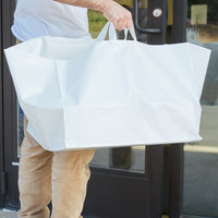 Plastic Take Out Bag 22 inch x 14 inch x 15 1/4 inch   - 100/Box