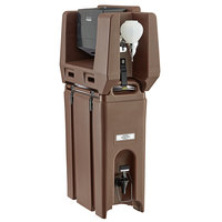 Cambro 4.75 Gallon Dark Brown Portable Handwash Station with Soap and Multi Fold Paper Towel Dispenser