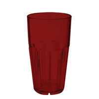 GET 9916-1-R Bahama 16 oz. Red Break-Resistant Customizable Plastic Tumbler - 72/Case