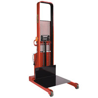 Wesco Industrial Products 261073 1500 lb. Hydraulic Power Lift Platform Stacker with 32 inch x 30 inch Platform and 80 inch Lift Height