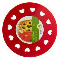 9 3/4 inch Red Heart Shaped Pie Crust Cutter