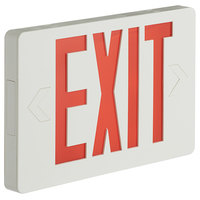 Lavex Industrial Slim Red LED Exit Sign with Battery Backup - 1.1W Unit
