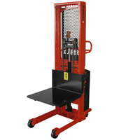 Wesco Industrial Products 261075 1500 lb. Hydraulic Power Lift Platform Stacker with 24 inch x 24 inch Platform and 68 inch Lift Height