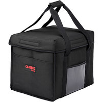 Cambro GBD151212110 Customizable Insulated Black Sandwich GoBag™ - 15 inch x 12 inch x 12 inch