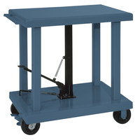 Wesco Industrial Products 260066 24 inch x 36 inch Heavy-Duty Lift Table with Swivel Casters - 4000 lb. Capacity