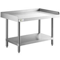 Regency 24 inch x 36 inch 14-Gauge Stainless Steel Equipment Stand With Galvanized Undershelf
