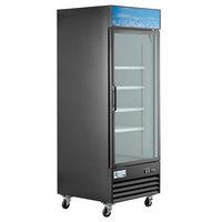Avantco GDC-24F-HC 31 1/8 inch Black Swing Glass Door Merchandiser Freezer with LED Lighting