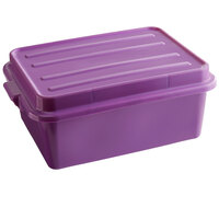Vollrath 1535-C80 Traex® Color-Mate Purple Allergen Food Storage Drain Box Set with Raised Snap-On Lid - 20 inch x 15 inch x 7 inch