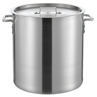 Choice 40 Qt. Heavy Weight Aluminum Stock Pot with Cover