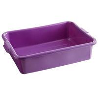 Vollrath 1521-C80 Traex® Color-Mate Purple Allergen Food Storage Box - 20 inch x 15 inch x 5 inch