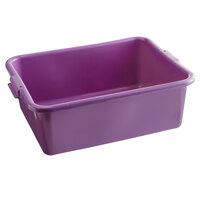 Vollrath 1527-C80 Traex® Color-Mate Purple Allergen Food Storage Box - 20 inch x 15 inch x 7 inch