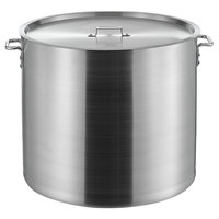 Choice 120 Qt. Heavy Weight Aluminum Stock Pot with Cover