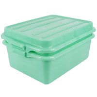 Vollrath 1535BRS6-C19 Traex® Color-Mate Green 20 inch x 15 inch x 7 inch Food Storage Drain Box Set with Raised Snap-On Lid - Bulk