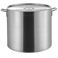 Choice 140 Qt. Heavy Weight Aluminum Stock Pot with Cover