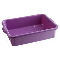 Vollrath 1511-C80 Traex® Color-Mate Purple Allergen Perforated Drain Box - 20 inch x 15 inch x 5 inch