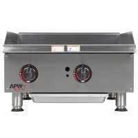 APW Wyott GGM-18i Champion 18 inch Countertop Griddle with Manual Control and Safety Pilot - 37,500 BTU