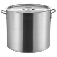 Choice 80 Qt. Heavy Weight Aluminum Stock Pot with Cover
