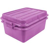 Vollrath 1535BRS6-C80 Traex® Color-Mate Purple Allergen 20 inch x 15 inch x 7 inch Food Storage Drain Box Set with Raised Snap-On Lid - Bulk