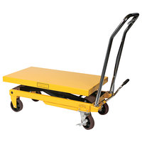 Wesco Industrial Products 272970 20 inch x 39 inch Heavy-Duty Scissors Lift Table, 1650 lb. 16 inch - 35 inch Lift