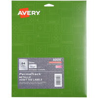 Avery 60519 PermaTrack 1/2 inch x 1 inch Metallic Asset Labels - 672/Pack
