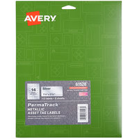 Avery 61528 PermaTrack 1 1/4 inch x 2 3/4 inch Metallic Asset Labels - 112/Pack