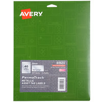 Avery 61523 PermaTrack 3/4 inch x 1 1/2 inch Metallic Asset Labels - 320/Pack
