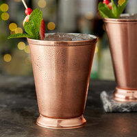 Acopa Alchemy 16 oz. Copper Mint Julep Cup with Beaded Detailing - 4/Pack