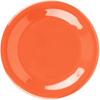 Carlisle 3301652 Sierrus 7 1/2 inch Sunset Orange Wide Rim Melamine Salad Plate - 48/Case