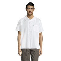 Uncommon Threads 0920 White Customizable Classic Short Sleeve Cook Shirt - 5X