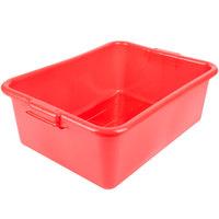 Vollrath 1527B-C02 Traex® Color-Mate Red 20 inch x 15 inch x 7 inch Food Storage Box - Bulk
