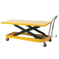 Wesco Industrial Products 273261 32 inch x 63 inch Long Deck Scissors Lift Table, 1100 lb. 11 inch - 36 inch Lift