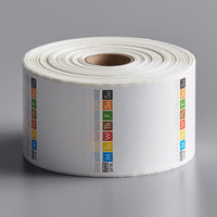 DayMark IT115698 ToughMark 2 inch x 2 inch Removable Direct Thermal Label   - 1000/Roll