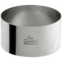 Fat Daddio's SSRD-35175 ProSeries 3 1/2 inch x 1 3/4 inch Stainless Steel Round Cake / Food Ring Mold