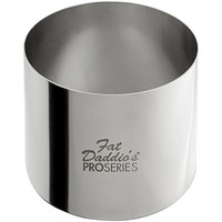 Fat Daddio's SSRD-27520 ProSeries 2 3/4 inch x 2 inch Stainless Steel Round Cake / Food Ring Mold