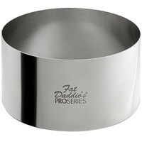 Fat Daddio's SSRD-4020 ProSeries 4 inch x 2 inch Stainless Steel Round Cake / Food Ring Mold