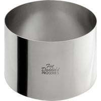 Fat Daddio's SSRD-5030 ProSeries 5 inch x 3 inch Stainless Steel Round Cake / Food Ring Mold