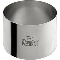 Fat Daddio's SSRD-275175 ProSeries 2 3/4 inch x 1 3/4 inch Stainless Steel Round Cake / Food Ring Mold