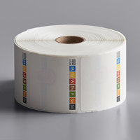 DayMark IT115694 DissolveMark 2 inch x 2 inch Dissolvable Direct Thermal Label   - 1000/Roll