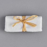 Novo Essentials White Shoe Mitt with Natural Ribbon Tie - 500/Case