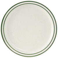 Tuxton TES-008 Emerald 9 inch Green Speckle Narrow Rim China Plate - 24/Case