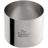 Fat Daddio's SSRD-3020 ProSeries 3 inch x 2 inch Stainless Steel Round Cake / Food Ring Mold