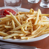 Lamb Weston Private Reserve 4.5 lb. 1/4 inch Skin-On Shoestring Fries - 6/Case