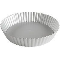 Fat Daddio's PFT-102 ProSeries 10 inch x 2 inch Round Anodized Aluminum Deep Fluted Tart / Quiche Pan with Removable Bottom