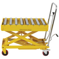 Wesco Industrial Products 273269 19 inch x 32 inch Roller Top Scissors Lift Table, 660 lb. 12 inch - 38 inch Lift