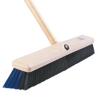Carlisle 4187100 Omni Sweep 24 inch Hardwood Push Broom Head with Polypropylene Bristle Blend and Anchor Attachment