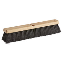 Carlisle 4513500 Flo-Pac 18 inch Hardwood Push Broom Head with Tampico Bristles and Wire Center